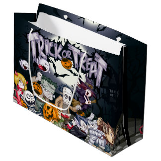 Trick or Treat Halloween Party Large Gift Bag