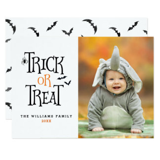 Trick or Treat Halloween Photo Cards
