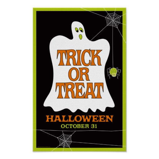 Trick or Treat Halloween Poster