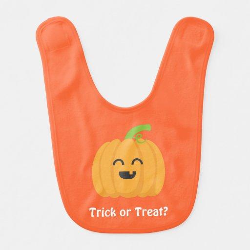 Trick or Treat Halloween Pumpkin for Babies Baby Bib