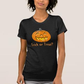 Trick or Treat Halloween Pumpkin Ladies  T-Shirt