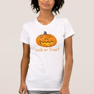 Trick or Treat Halloween Pumpkin Ladies  Tank Top