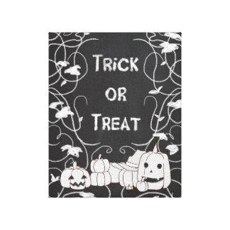Trick or Treat Halloween Pumpkin Patch Chalkboard Canvas Print