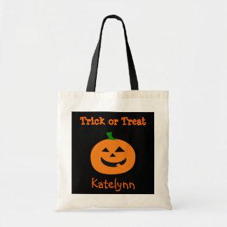 Trick or Treat Halloween Pumpkin Treat Bag