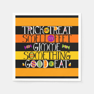 Trick or Treat Halloween Rhyme Disposable Napkin