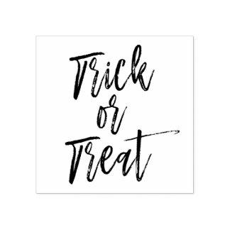 Trick or Treat Halloween Script Modern Stamp