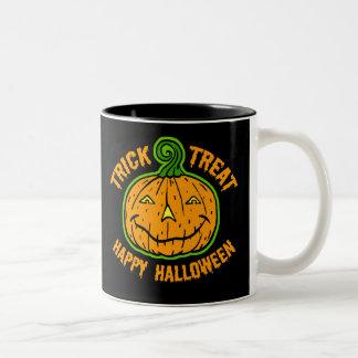 Trick or Treat Halloween Two-Tone Coffee Mug