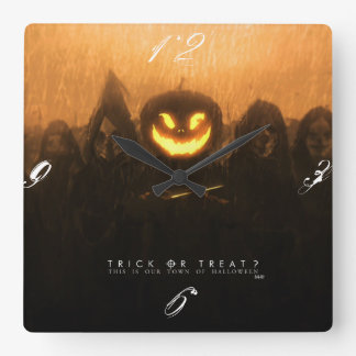 Trick or treat halloween wall clock