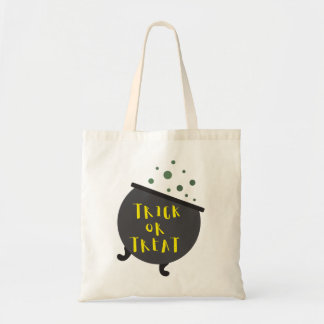 Trick or Treat Halloween Witch Cauldron Budget Tote Bag