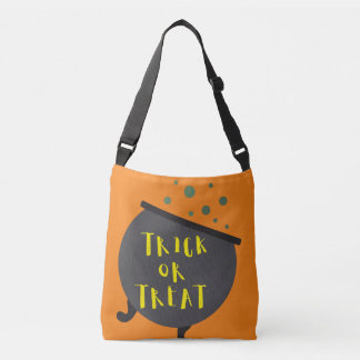 Trick or Treat Halloween Witch Cauldron Tote Bag