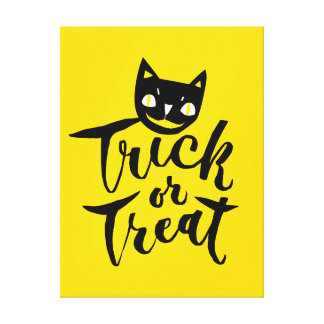 Trick or Treat - Hand Lettering Design Canvas Print