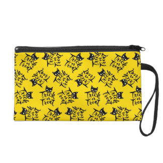 Trick or Treat - Hand Lettering Design Wristlet Clutches