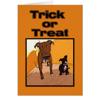 Trick or Treat Happy Halloween Dogs Card