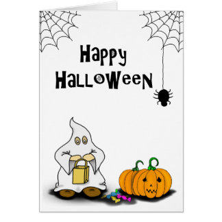Trick or Treat Happy Halloween Greetings Card