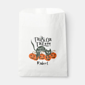 trick or treat happy halloween party favour bags