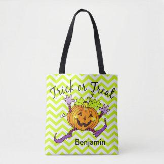 Trick or Treat Happy Pumpkin Tote Bag