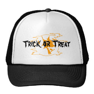 Trick or Treat hat with flying witch