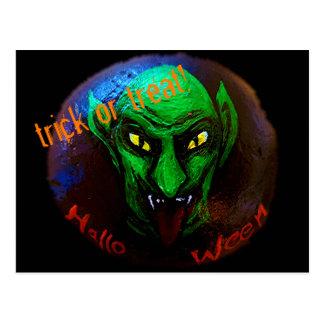 trick or treat? It´s Halloween! Postcard