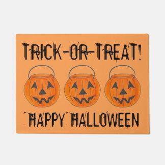 Trick-or-Treat Jack o' Lantern Halloween Pumpkin Doormat