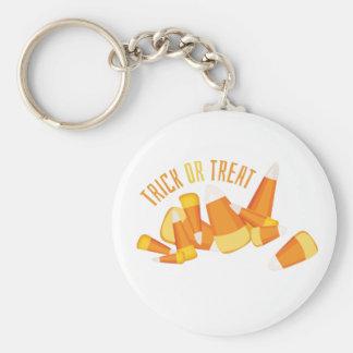 Trick Or Treat Basic Round Button Keychain
