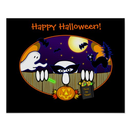 Trick Or Treat  Kilroy Poster