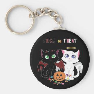 Trick or Treat Kittens Keychain