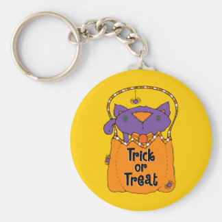 Trick or Treat Kitty Keychains
