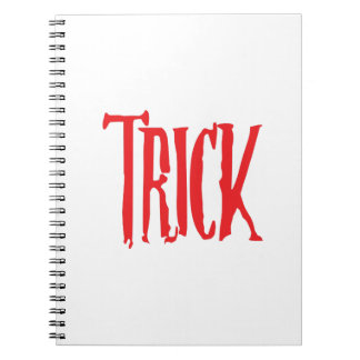 Trick Or Treat Matching Halloween Funny Gif Notebook