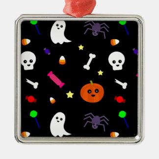 trick or treat metal ornament