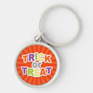 Trick or Treat on Orange Starburst.jpg Key Chains
