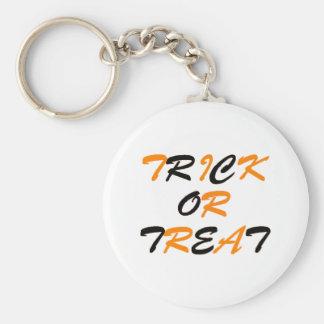 Trick or Treat Orange and Black Keychains