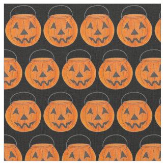 Trick or Treat Orange Halloween Pumpkin Fabric
