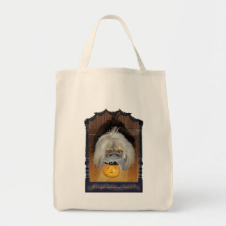 Trick or Treat Pekingese Halloween Tote Bag