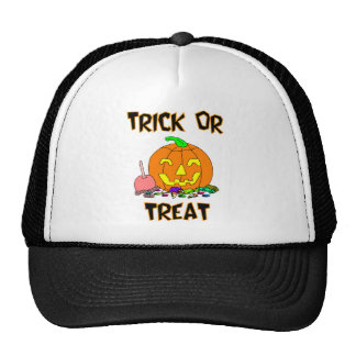 Trick Or Treat (Pumpkin And Candy) Mesh Hat