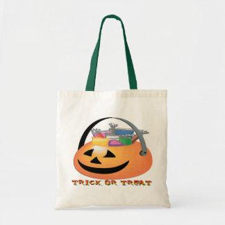 Trick or Treat Pumpkin Tote Bags