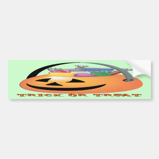 Trick or Treat Pumpkin Bumper Sticker
