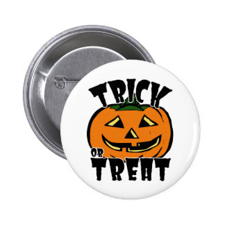 Trick or Treat Pumpkin - Button