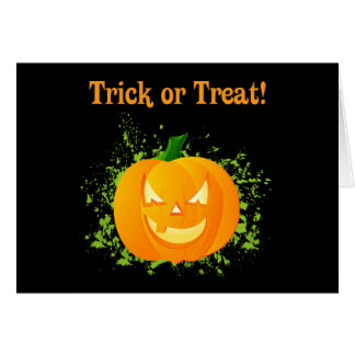 Trick or Treat Pumpkin Card