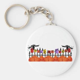 Trick or Treat Pumpkin Fence Keychains