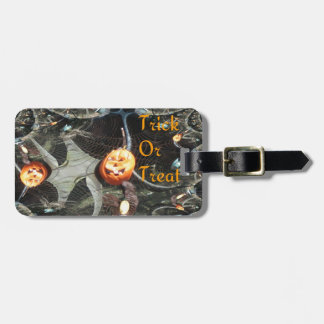 Trick or Treat Pumpkin Fractal Tags For Luggage