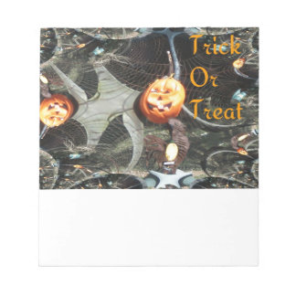 Trick or Treat Pumpkin Fractal Memo Note Pads