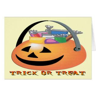Trick or Treat Pumpkin Greeting Card