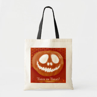 Trick or Treat Pumpkin Halloween Candy Tote Bag