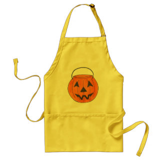 Trick or Treat Pumpkin Jack o' Lantern Halloween Standard Apron