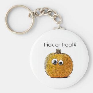Trick or Treat Pumpkin Keychains