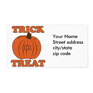 Trick or Treat Pumpkin Shipping Label