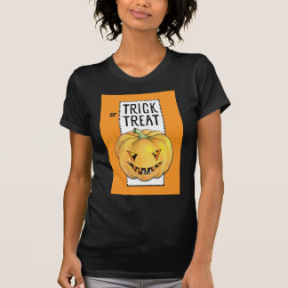Trick or Treat Pumpkin Ladies T-shirt