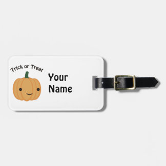 Trick or Treat Pumpkin Luggage Tag