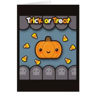 Trick or Treat Pumpkin Note Card