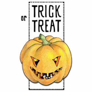 Trick or Treat Pumpkin Photo Sculpture